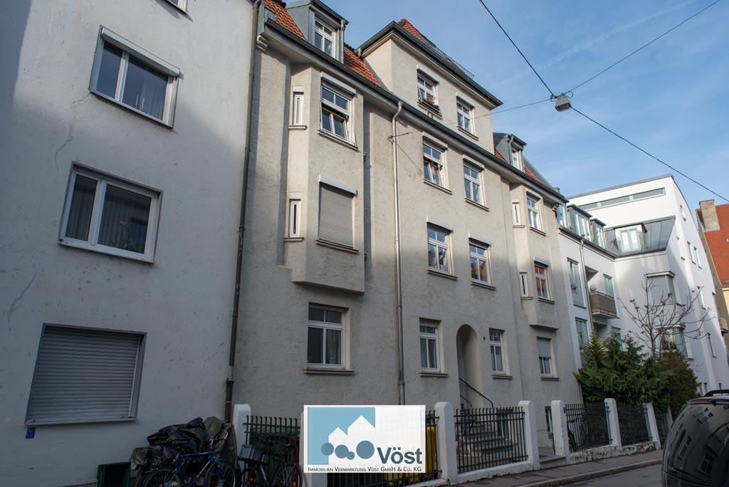 Dachgeschosswohnung mit Blick über Augsburg