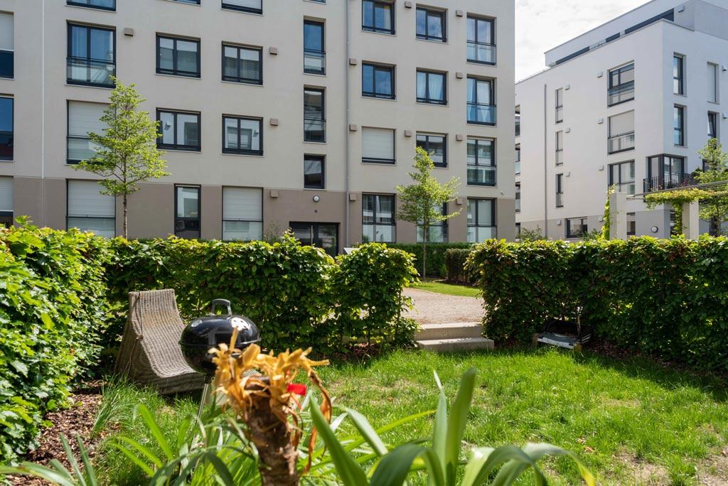 Moderne Stadtwohnung mit Garten Garten